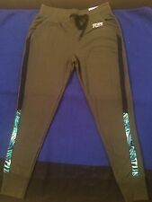 Nwt Xs Victoria's Secret PINK Skinny Collegiate Pant Olive Green Tropical Palm