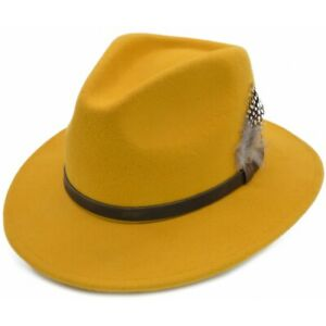 Quality Crushable-Waterproof 100% Wool Handmade Fedora hat Indiana Jones Hat