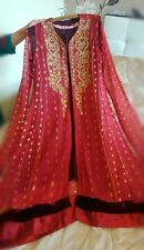 ladies anarkali jacket embroidery  kameez dress chooridar churidar new for eid