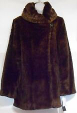 Jones New York Ladies Faux Fur Ombre Leopard Coat Jacket M NWT MSRP $425.00