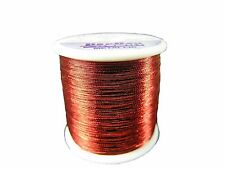 PAC BAY ROD WINDING METALLIC THREAD RED SIZE A-1505 100YDS SPOOL