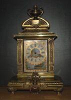 50 % Off  French Gilt Bronze Regulator w Ormolu& Porcelain Champleve Case  AS-IS
