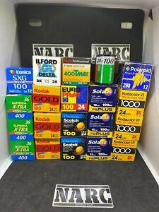 20x 35mm Job Lot Kodak Fuji Konica Polaroid Ferrania