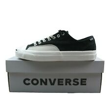 Converse Jack Purcell Pro Ox Low Size 9 Mens Black Pale Gray Leather New 162510C