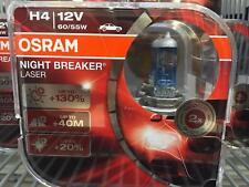 2x Ampoules H4 Osram Night Breaker Laser +130% FIAT RITMO I