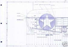 Vought F4U F4U-1 Corsair 1940s BLUEPRINT PLAN DRAWINGS WW2 PERIOD ARCHIVE DETAIL