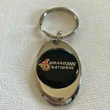 Buick Grand National Keychain Lightweight Metal Shiny Chrome Finish