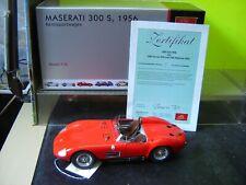 """Cmc 1:18 m-105 Maserati 300 s 1956 carreras carro rojo """"nuevo"""" (916)"""