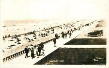 1920s Beach Front Walk Seaside Oregon Printess RPPC Real photo 4782