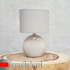 Tischlampe Nachttischlampe Tischleuchte Leuchte Schreibtisch Lampe Beige 34679
