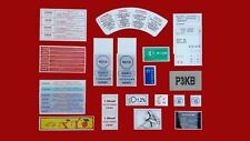 Peugeot 205 GTI 1.9 Full Engine Bay & Interior Sticker Set - 18pcs