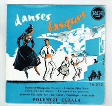 """Polentzi GEZALA Vinyle 45T RPM 7"""" DANSES BASQUES Folk Folklorique RCA 76072 RARE"""