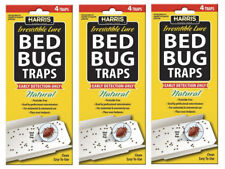 3 Pack- 12 Traps Total! Harris Bed Bug Detection Glue Traps w/irresistible Lure