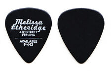 Melissa Etheridge Promotional 4th Street Feeling Black Guitar Pick - 2012 Tour