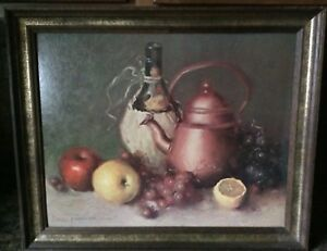 Leon Franks Copper Kettle Painting Signed