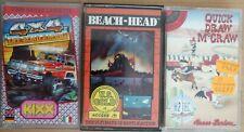 COMMODORE 64 x3 BEACH HEAD 4x4 OFF-ROAD RACING QUICK DRAW McGRAW HANNA-BARBERA