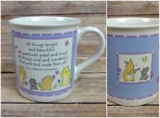 All Things Bright and Beautiful Mug Hallmark Christian Quote Animal Lover Cat