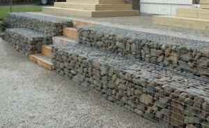 Outdoor Garden Patio Retaining Wall Gabion Steel Baskets Various Sizes