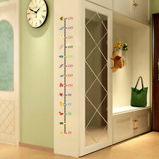 Undersea Animals Wall Sticker Kids Baby Height Chart Measurement Decal Removable