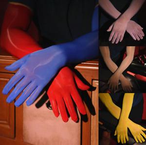 Männer Sissy Gloves Sexy Shiny Long Gloves Transparent Tight Stocking Toe Gloves