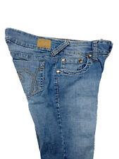Hydraulic Womens Curvy Lola Fit Blue Jeans Flare Mid Crosshatch Faded Size 7/8