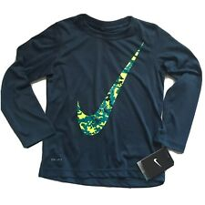 Nike Boys Long Sleeved Shirt $28 Size 4 Navy Blue Dri-Fit Gift Stay Cool, MP