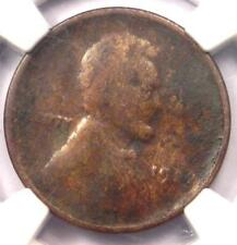 "1922 No D ""Plain"" Strong Reverse Lincoln Wheat Cent Penny 1C - NGC Fine Details!"