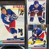 Winnipeg Jets Legends 3 Card Rookie Lot🚨Selanne Tkachuk RC🚨OPC Premier Fleer