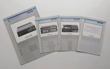 Philips Instruction Manuals For CD 150, FR 445, FP 455 & FC 450