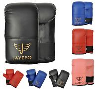 JAYEFO LEATHER HEAVY BAG BOXING MITTS TRAINING GLOVES SPARRING MMA GEL MUAY THAI