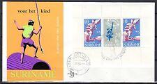 Suriname - 1969 Child welfare / Games miniature sheet - Clean unaddressed FDC!