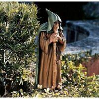 "Hooded Wizened Elder Garden Gnome Troll Wanderer 21.5"" Sculpture New"