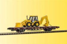 Kibri 26260 échelle H0, wagon bas-pension avec Tracto-Pelle JCB 4CX 4x4x4,