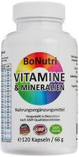 Hochdosierte lebenswichtige 23 Vitamine & Mineralien 120 Kapseln 2-Monatsbedarf