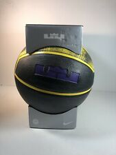 Nike Lebron James Official Playground Basketball 28.5 Yellow & Purple *LAKERS*