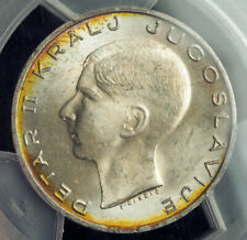1938, Kingdom of Yugoslavia, Peter II. Nice Silver 20 Dinara Coin. PCGS MS-64!