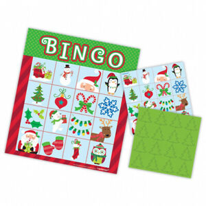 Christmas Bingo Party Game Christmas Party Activities Party Supplies FREE P&P
