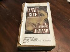 Anne Rice The Vampire Armand unabridged read by Jonathan Marosz 11 Cassettes