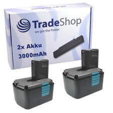 2x Akku für Hitachi 14,4V 3000mAH NIMH EB1414L EB1426 UB 18D/UB 18DL/G14DL 14DVA