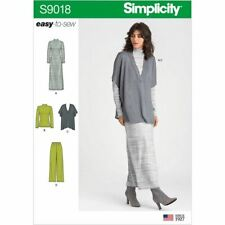 Simplicity Sewing Pattern 9018 Misses 4-26 Knit Dress Top Vest Pull on Pants
