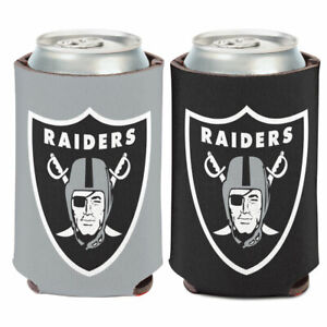 LAS VEGAS RAIDERS CAN COOLER KOOZIE TWO SIDED NFL OFFICIALLY LICENSED