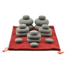 Conjunto De Masaje De Piedra Caliente massagemaster: 18 piedras de basalto en bolso de lazo