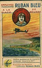 Image ancienne chromo Ruban bleu margarine série aviation capitaine Challe