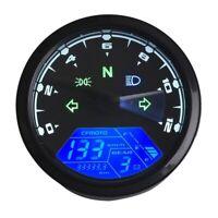 Motorcycle 12000Rmp Lcd Digital Odometer Speedometer Tachometer 1/2/4 Cylin S3K9