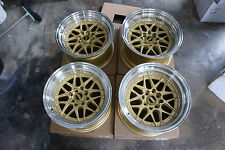 "JDM Dori dori bbs Style 15"" staggered wheels ae86 240z Z31 equip Miata MX5 ssr"