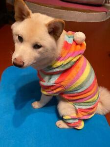 Small Shih Tzu Yorkie Pajamas PJ's Dog Puppy Pet Cat Clothes Sleepwear XS S M L