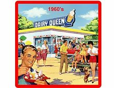 Vintage Dairy Queen Ad 1960's Refrigerator / Tool Box Magnet Gift Card Item