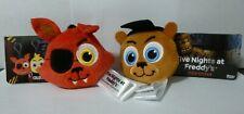 Five Nights at Freddy's Plush Key Chain Clip Foxy and Freddy NWT FNAF FUNKO