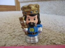 Fisher Price Little People Castle Palace Mighty Kings Blue Crown Purple Robe Man