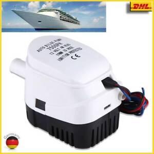 12V 750GPH Elektrische Boot Bilgepumpe Lenzpumpe Bilgenpumpe Pumpe Automatische